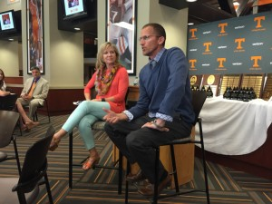 Missy Kane and Tim Mack discuss their journey to the Olympics and overcoming obstacles at the 2016 Spring Reception.
