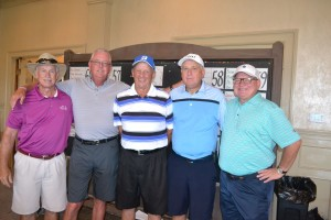 The winning group with Partners in Sports founder Buck Jones.
